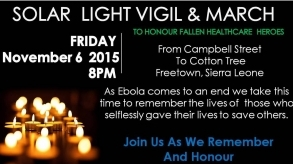 Freetown: Solar Light Vigil, March