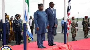 President Bio in Liberia for independence celebrations