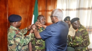 President Koroma decorates Deputy Chief of Defence Staff