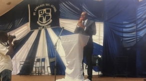 Freetown: Professor Jalloh at St. Edward's Secondary School Prize-Giving ceremony