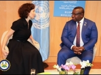 President Julius Maada Bio meets with UNESCO Director-General
