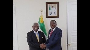 Seoul: Ambassador Omrie Golley receives Zambian counterpart