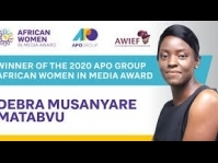 Zimbabwean journalist Debra Matabvu wins APO Group award