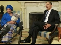 Obama meets with Ellen Johnson-Sirleaf