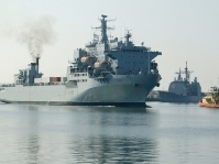 UK ship hosts President Koroma after service in Sierra Leone