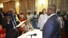 Charles Margai takes oath of office