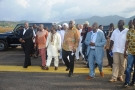 President Koroma inspects temporary housing for flood victims