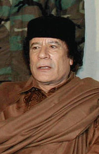 Gadaffi snubs former head of state