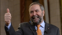 Canada's Tom Mulcair wraps up political campaign