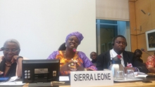 Geneva: Statement by Sierra Leone's Social Welfare, Gender and Children's Affairs Minister at UN conference
