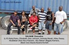 SALNAM ships container to Sierra Leone