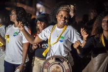 Solar Light Vigil and March in Sierra Leone on the eve of countdown to Zero Ebola Case