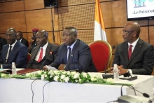 Abidjan: President Bio addresses business leaders