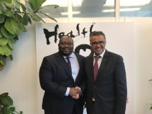 Geneva: Ambassador Gberie meets with WHO official