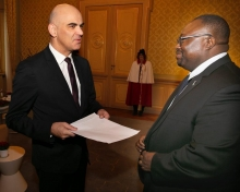 Bern: Ambassador Lansana Gberie presents credentials