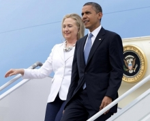 President Obama hits the road for Hillary Clinton