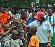 Freetown: International soccer star ends visit