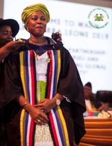 First Lady Fatima Bio honoured by West African College of Nursing
