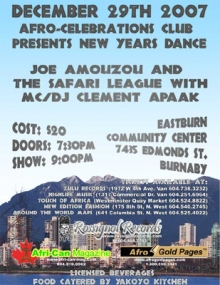 Afro-Celebrations Club show in Burnaby