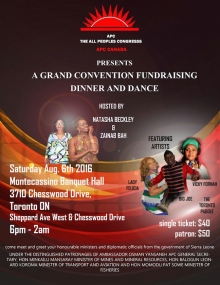 APC-Canada Fundraising Dinner and Dance