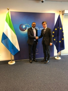 VP Juldeh Jalloh meets with senior EU officials