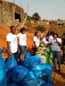 Umbrella donates to Freetown landslide victims