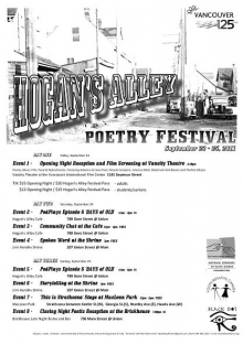 Vancouver: Hogan's Alley poetry festival