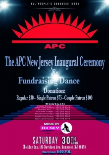 APC-New Jersey inaugural ceremony