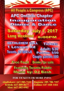 APC-Ontario Inauguration Dinner and Dance