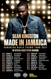 Jamaican musician Sean Kingston in Vancouver, Canada, November 25